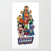 justice league Art Prints featuring Justice League of Muppets by JoshEssel
