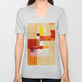 Abstract Painting Unisex V-Neck
