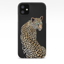 Mrs. Leopard Black Case iPhone Case