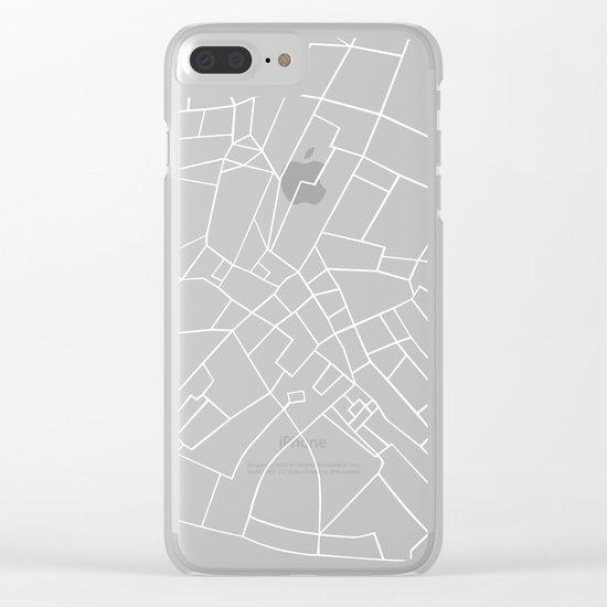 London Road Blocks Black Clear iPhone Case