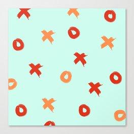 XOXO Love // Nautical Color Schemem Canvas Print