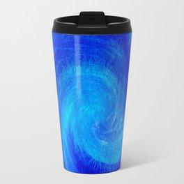 Spiral Blue Wave Travel Mug