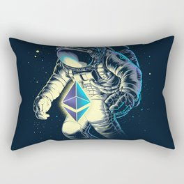 Space Ethereum - Navy Version Rectangular Pillow