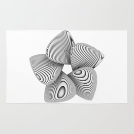 Bio Flower Art Print Rug