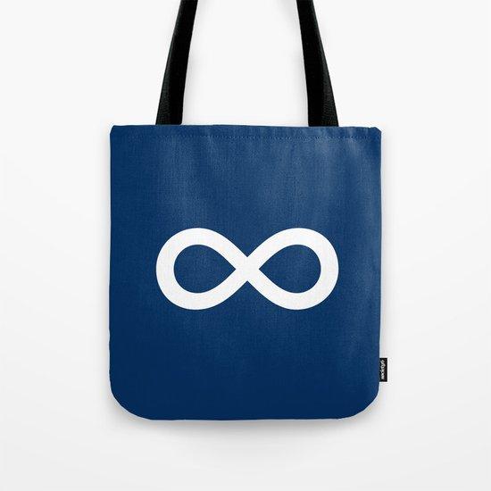 Navy Blue Infinity Tote Bag
