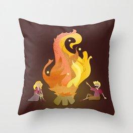 Campfire Magic Throw Pillow