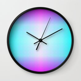 Five color blue, pink, purple, white, black ombre Wall Clock