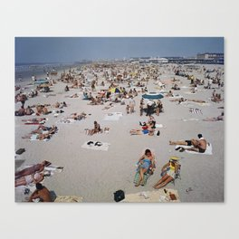 1960's Wildwood Beach, Wildwood, NJ Retro Beach Canvas Print