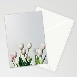Minimal Tulips Two Stationery Cards
