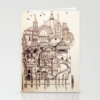 venice Stationery Cards featuring Venice by Justine Lecouffe