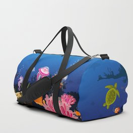 Beautiful Coral Reef Animals Duffle Bag