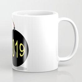 Cartoon 2019 New Year Bomb Coffee Mug