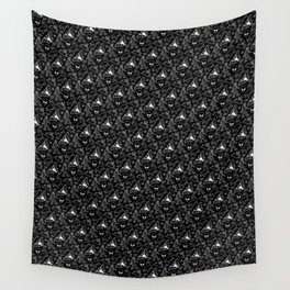 Cryptid Pattern: White Lines Wall Tapestry