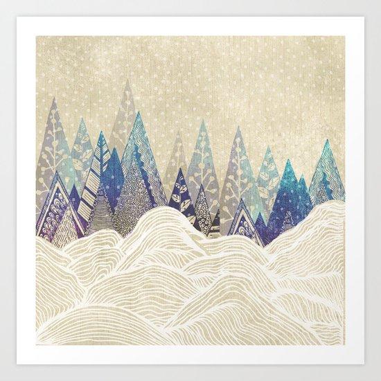Snowy Dreams  Art Print
