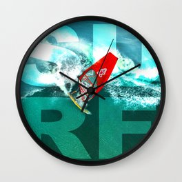 Wind Surfing Wall Clock