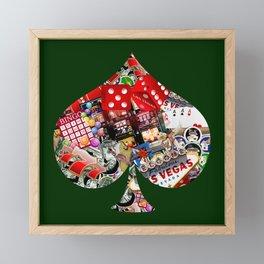 Spade Playing Card Shape - Las Vegas Icons Framed Mini Art Print