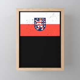 Hesse logo flag coat of arms flag gift Framed Mini Art Print