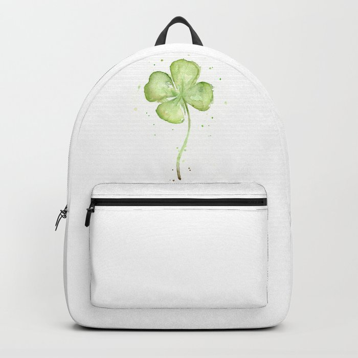 Clover Four Leaf Lucky Charm Green Clovers Backpack