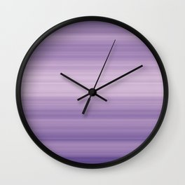 Pastel Ultra Violet Gradient Stripes Trendy Color of the year 2018 Wall Clock