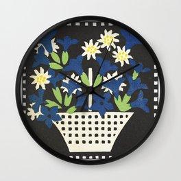 Basket of Flowers (1907) by Leopoldine Kolbe. Wall Clock