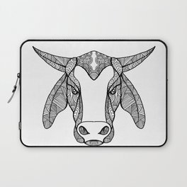 Brahma Bull Head Mandala Laptop Sleeve