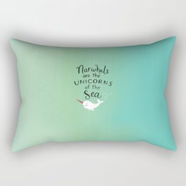 Wendell the Narwhal Rectangular Pillow