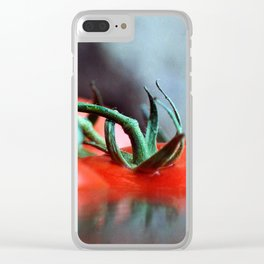 Tomato floating in water Clear iPhone Case