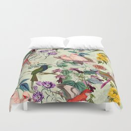 Floral and Birds VIII Duvet Cover