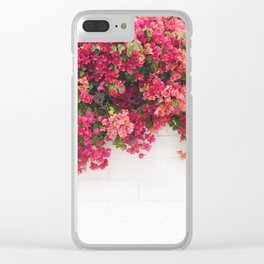 bougainvillea wall Clear iPhone Case