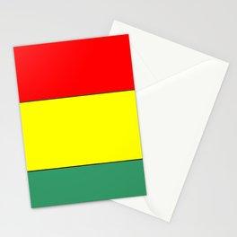 flag of bolivia 3 -bolivian,boliviano,bolivian,Sucre, La Paz. Stationery Cards