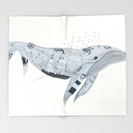 whale song Throw Blanket