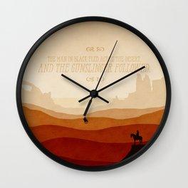 And The Gunslinger Followed - Dark Tower : The Gunslinger Wall Clock