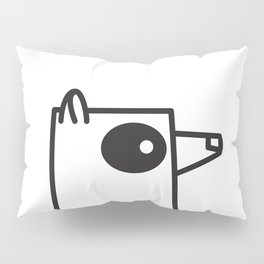 Minimalist Raccoon Pillow Sham