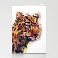 leopard Stationery Cards featuring Leopard by jbjart
