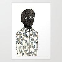 Pinapple Jihad Club Art Print
