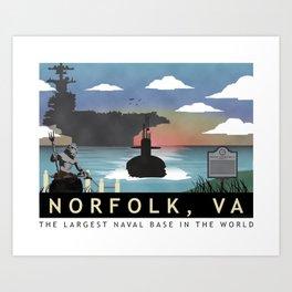 Norfolk, VA - Submarine Homeport Art Print