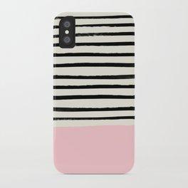 Millennial Pink x Stripes iPhone Case