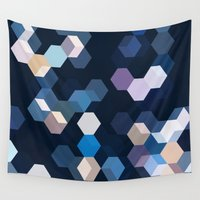 honeycomb Wall Tapestries featuring HONEYCOMB by ED design for fun