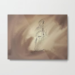 Storm in the sand Metal Print