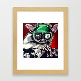Thieving Bookkeeper Framed Art Print