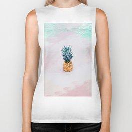 Pineapple on the beach Biker Tank