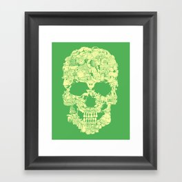 Clip Art Skull Framed Art Print