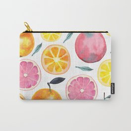 Summer Fruits Watercolor Pattern Carry-All Pouch