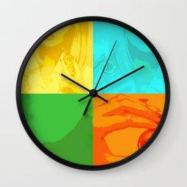 Bitcoin Girl colourful Wall Clock