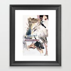 The camel that cried wolf Framed Art Print