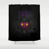 majoras mask Shower Curtains featuring Majora's Mask by Art & Be