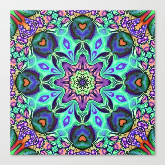 Turquoise Mandala Abstract Canvas Print