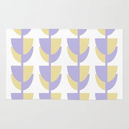 Tulips In Spring Time - Lavender and Lemon Rug