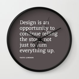Design - Quotable Series Wall Clock