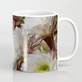 Desert Bloom Cactus in White and Green Coffee Mug